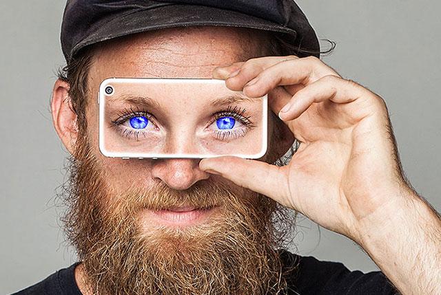 aveugle yeux bleu