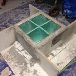 table basse en beton
