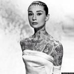 Audrey Hepburn tatouée