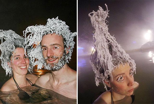 Congelation cheveux