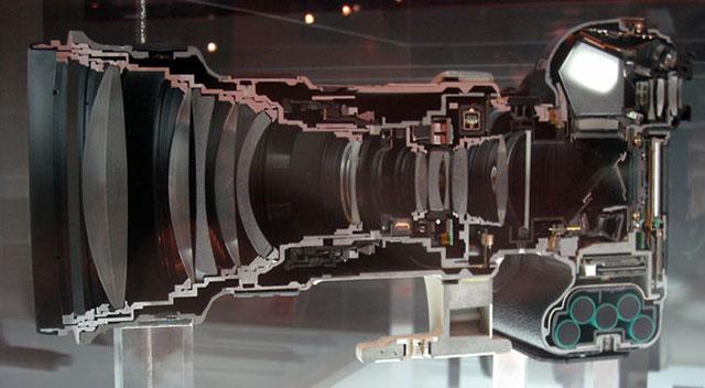 appareil photo vue en coupe