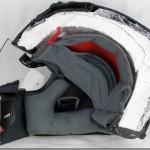 casque moto vue en coupe