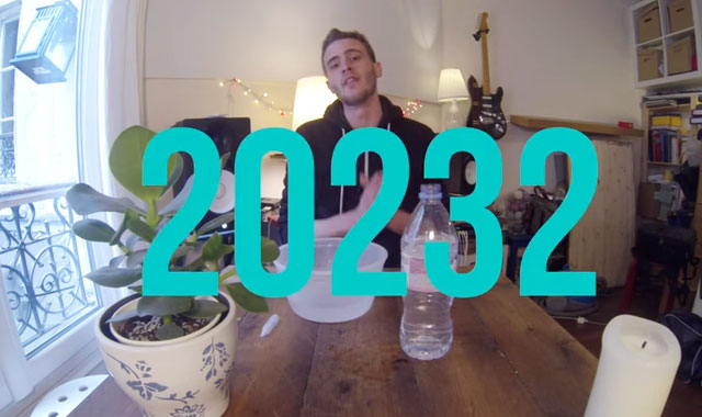 Gouttes d'eau bouteille