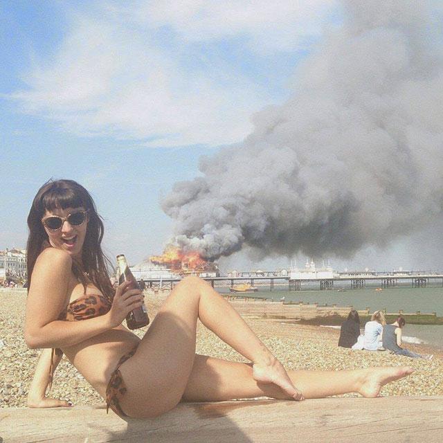 bikini photobomb