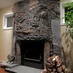 cheminée de pierre