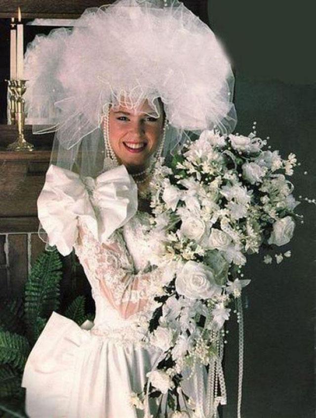 robe de mariée moche