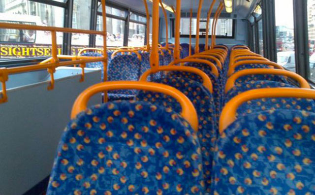 siege bus poussiere