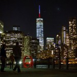 One World Trade Center bleu blanc rouge
