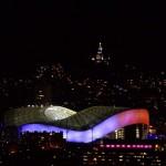 stade velodrome de Marseille bleu blanc rouge