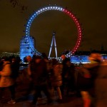London Eye bleu blanc rouge