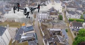 drone inondation montargis